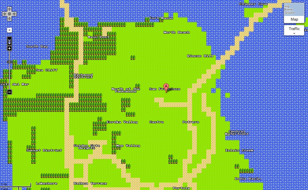 How to use Google Maps 8-bit tiles in your own project