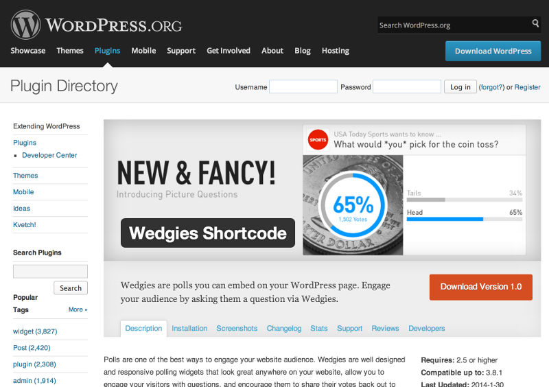 Wedgies Shortcode Plugin Launches